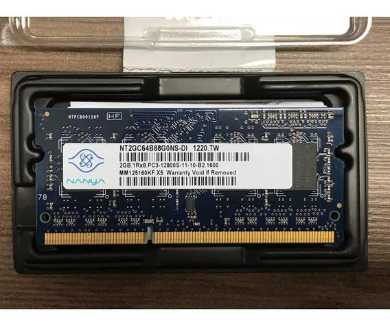 Memoria Notebook Nanya 2gb Ddr3 Sodimm 1600 Nt2gc64b88g0nsdi