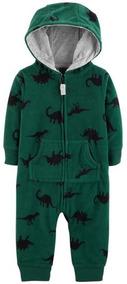 Macacão Fleece Soft Sem Pé Carters 9 E 12 Meses Verde