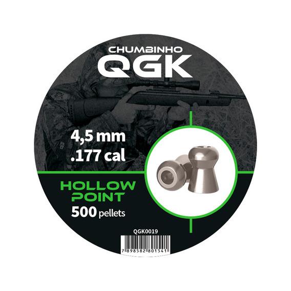 Chumbinho Hollow Point 500 Pellet / Pote 4,5mm - Qgk