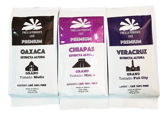 Tripack Tradición De Café Grano Finca La Pendiente 3 X 227g