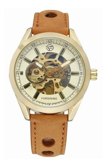 Relógio Forsining Original Cowboy Esqueleto Mec Automático