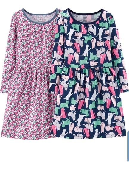 Set De 2 Vestidos De Algodón Carters Talle 6 Años
