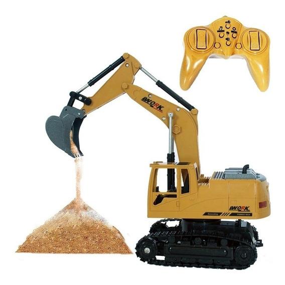 Carrinho Máquina Escavadeira De Controle Remoto 8 Canais