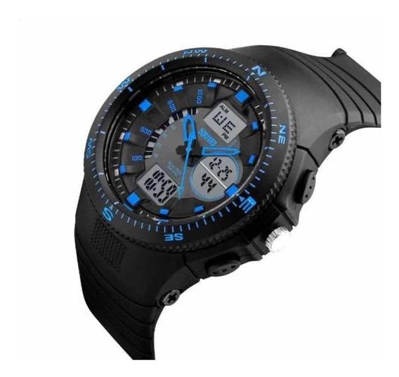 Relógio Anadigi Original Esportivo Shock Militar Calendário