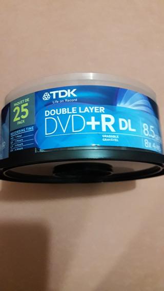 Dvd+r Dl Marca Tdk / 8.5gb.go / 8x Speed. (3 Dvd)