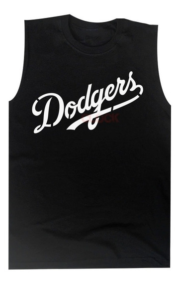 Playera Dodgers Sin Mangas Sport Deportivo Gym Moda Unisex