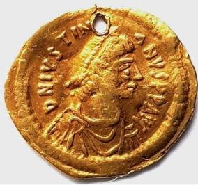 Tremíssis Bizantino - Justiniano I(527-565)
