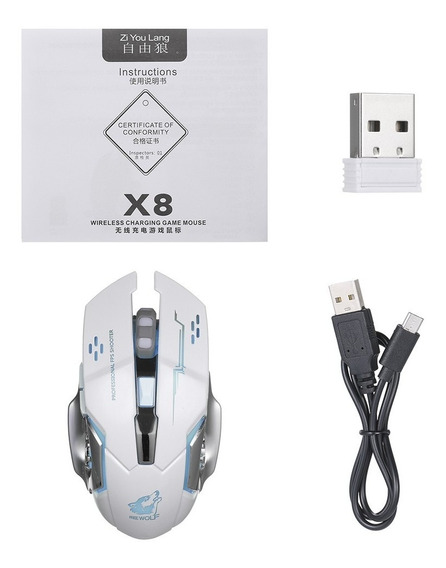 Grátis Wolf Wireless Gaming Mouse 2400dpi 7