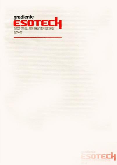 Manual Toca Discos Rp-ii Linha Esotech. 20 Pgs - Cópia Dig.