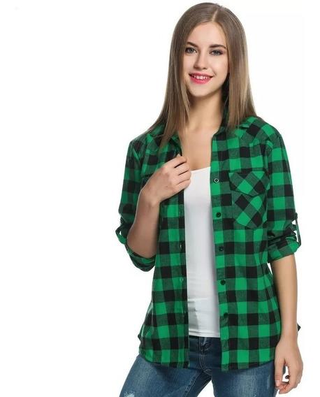 Camisas Entalladas Cuadros Mujer- Escocesas - Primavera - 19