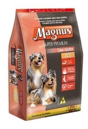 Ração Pet Magnus Super Premium Carne Arroz Cães Adulto15kg
