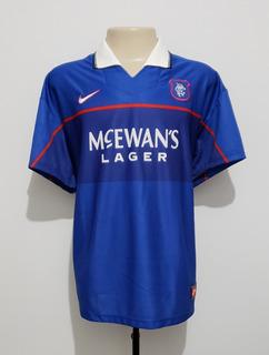 Camisa Oficial Futebol Rangers Escócia 1997 Home Nike Ggg