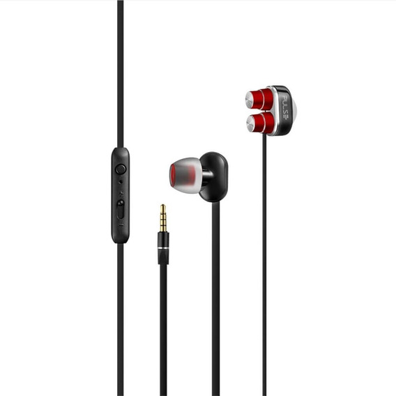 Earphone Stereo Áudio Dual Driver Vermelho - Ph235 - Pulse