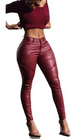 Calça Super Sexy Lycra Cirré Vermelha 12x Sem Juros