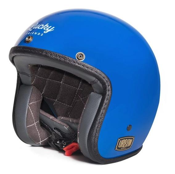 Capacete Urban Helmets Lucky Friends Com Viseira Bolha