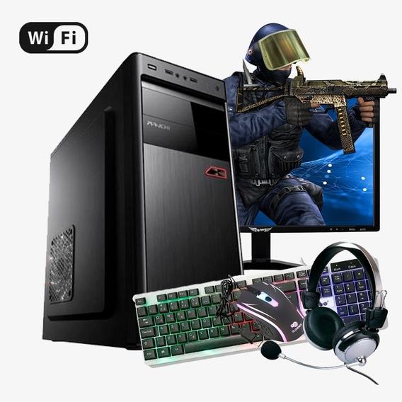 Pc Gamer Completo Strike Core 2 Quad, 8gb Ram , Hd Ssd 240gb