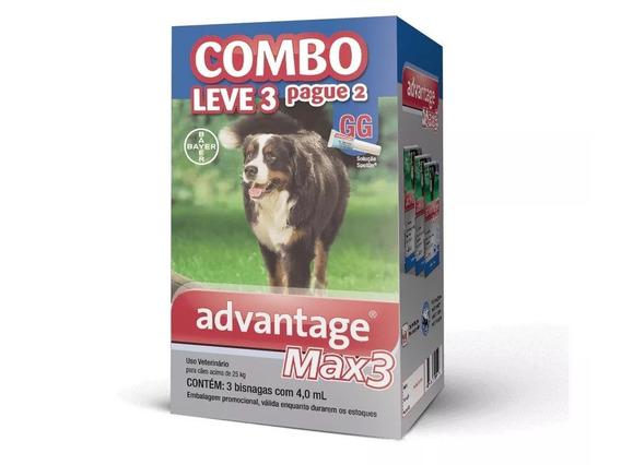 Antipulgas Bayer Advantage Max3 Combo P/ Cães Acima De 25kg