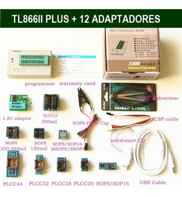 Gravador Minipro Tl866ii Plus Bios Flash Eprom Tl866cs +12