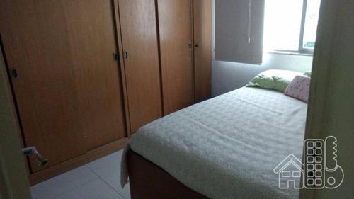 Apartamento Com 3 Dormitórios À Venda, 80 M² Por R$ 450.000,00 - Icaraí - Niterói/rj - Ap1144