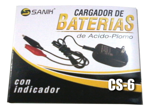 Imagen 1 de 3 de Cargador 6volts Para Carritos Montables Scooters Patines