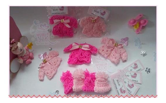 25 Distintivos Recuerdos Baby Shower Chambritas Tejidas