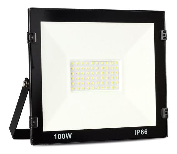 Refletor Led 100w Holofote Branco Frio Bivolt Prova D