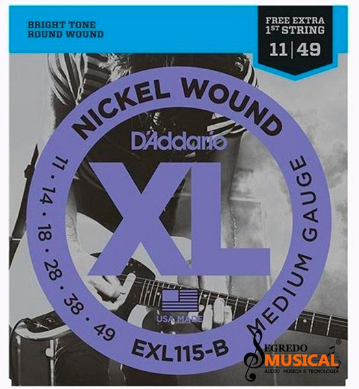 Encodoamento Daddario Guitarra 0.11 Exl115b Original C/ Nf