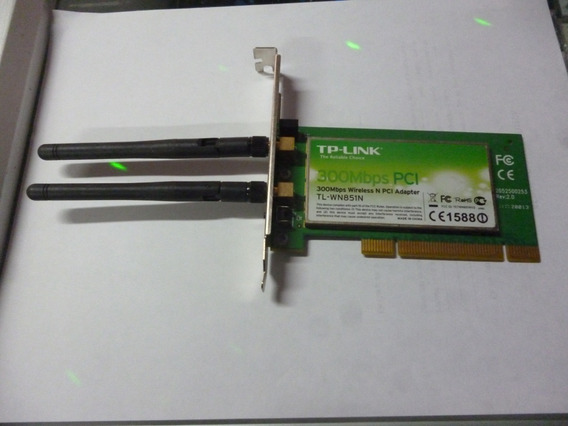 Tarjeta Red Pci Wifi 300mbps 2 Antena Tp-link Tienda