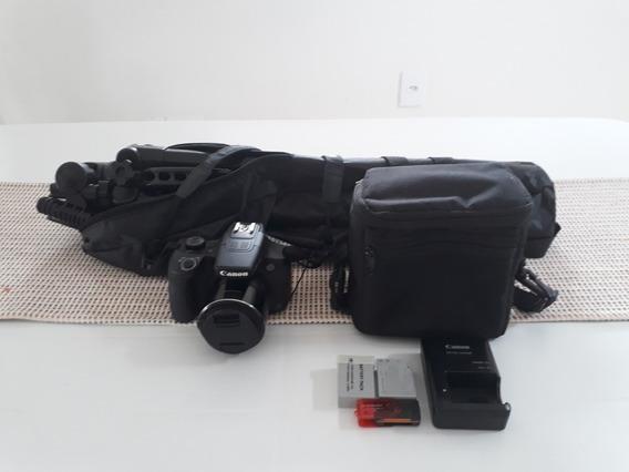 Câmera Canon Sx60 Sh Novíssima!!!com Vários Acessórios