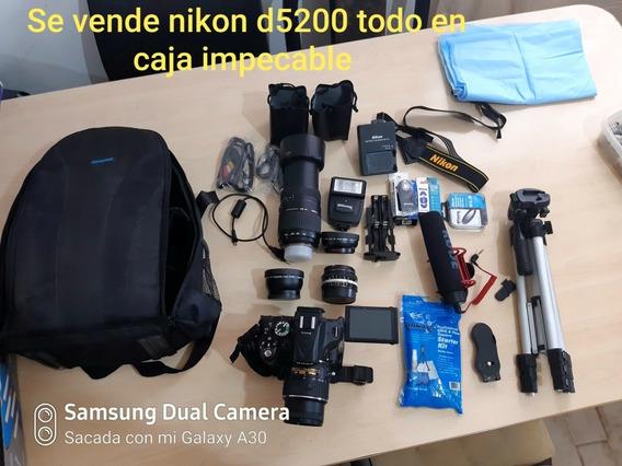 Oportunidad Nikon D5200 Todo Completo Muy Barato + Regalo