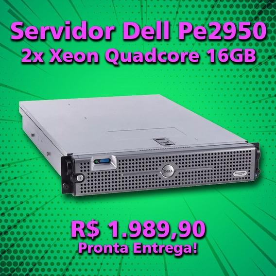 Servidor Dell Pe2950 2x Xeon Quadcore 16gb 300gb Hd
