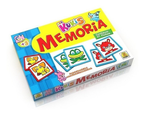 Juego De Memoria Animalitos Kukis Implas Im37 Full