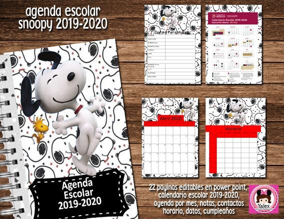 Calendario Snoopy 2020.Snoopy Agenda En Mercado Libre Mexico