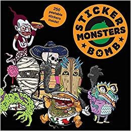Libro Sticker Monsters Bomb 250 Stickers *sk