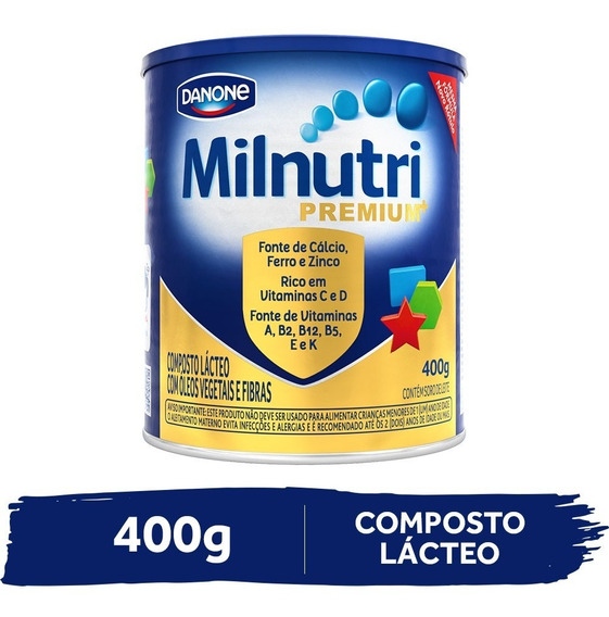 Milnutri Premium Composto Lácteo Infantil Lata 400g