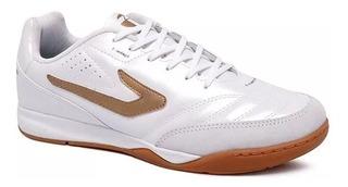 Tênis Futsal Topper Maestro Td2 4203615 Branco/dourado