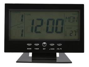 Relógio Digital Despertador Mesa Control