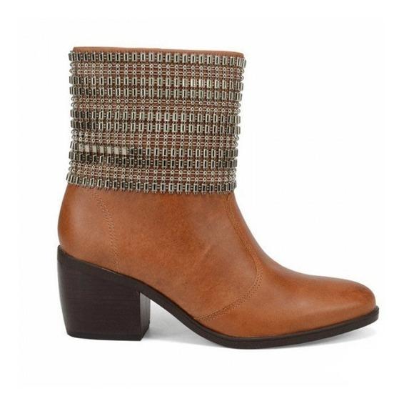 Bota Ankle Boot Cravo E Canela 144208