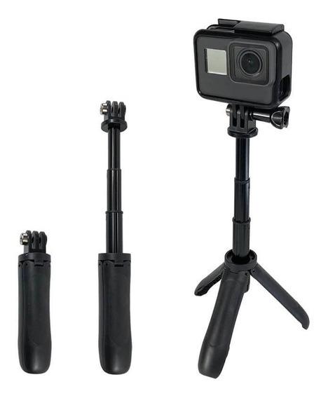 Mini Bastão De Mão Tripé Para Câmeras Gopro Hero Dslr Compac