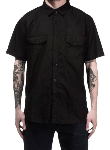 Camisa Workshirt Lisa Sem Estampa Mecânico / Barbeiro