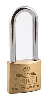 Candado De Bronce Doble Traba De 40mm Prive 355