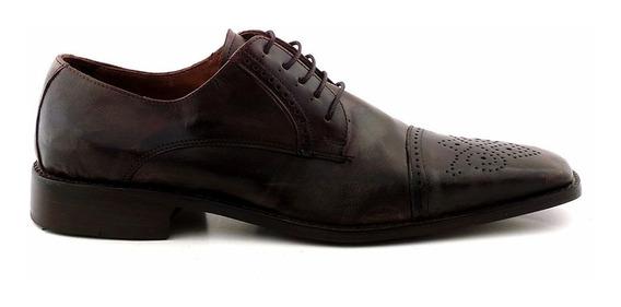 Zapato Hombre Suela Cuero Picado Briganti Vestir Hcac00676 F