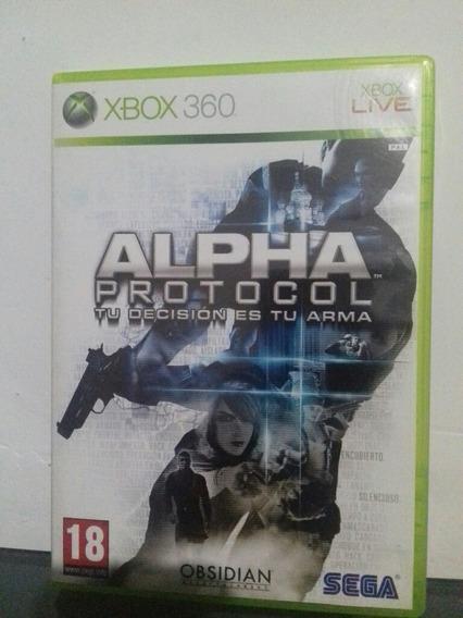 Jogo De Xbox 360 Original Alpha Protocol Sega