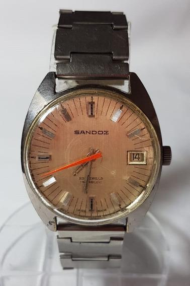Relogio Vintage De Pulso Sandoz 25 Jewels Swiss Automatico 2