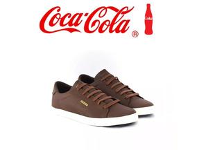 Tenis Coca Cola Masculino Canion Marrom Cc1443