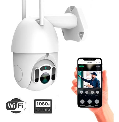 Imagen 1 de 9 de Cámara Domo Ptz Movimiento 360 Wifi Exterior Full Hd Flash