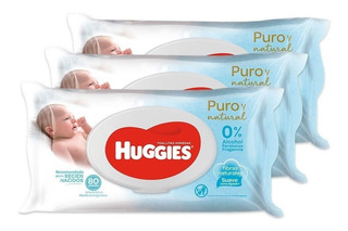 Toallas Húmedas Huggies Puro Y Natural Pack X 3