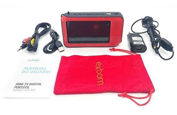 Tv Digital Mini Pequena Com Bateria Fm Usb Vários Acessórios