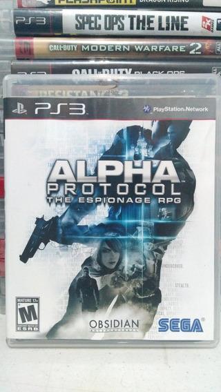 Alpha Protocol Ps3 Mídia Física Usado