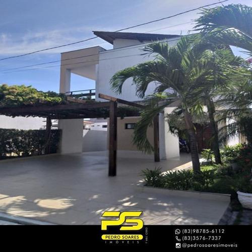 (alto Padrão)  Casa Com 4 Dormitórios À Venda Por R$ 1.100.000 - Intermares - Cabedelo/pb - Ca0897